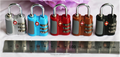 New design Zinc Alloy TSA cable padlock,3 dials lock with CE and ISO