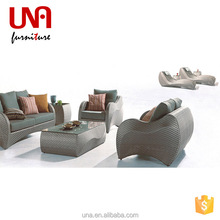 Una furniture used rattan patio cane sofa sets discount for sale furniture made in China