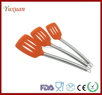 Silicone Cooking slotted Spatula Turner Kitchen Tools Stainless Clean Safety Best