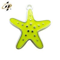 Fashion jewelry 2016 wholesale casting enamel starfish charm pendant