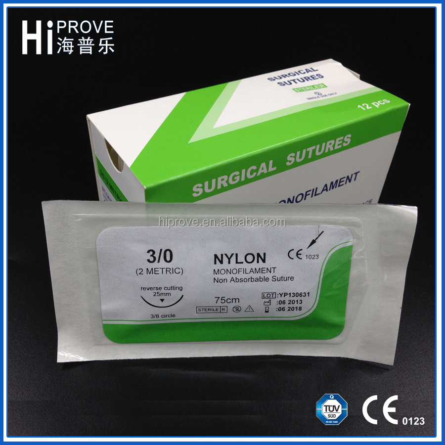 Cheap price of blue surgical nylon suture