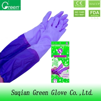selling products long cuff household cleaning gloves