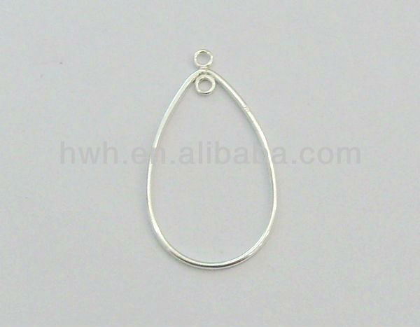 H1140 Sterling Silver 925 Wire Component Drop Shape
