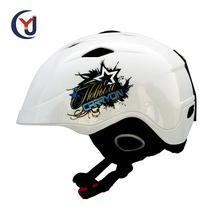 professional custom design water decals decoration leather jet adult ski helmet cover