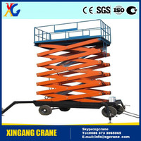 good condition ladder hoist lift scissor tables