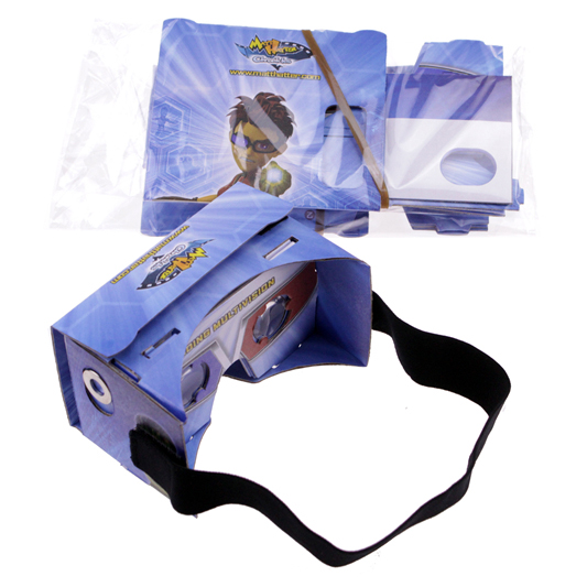 new product vr cardboard private label printed for 3.5-6inches phone  vr goggles foldable vr glasses