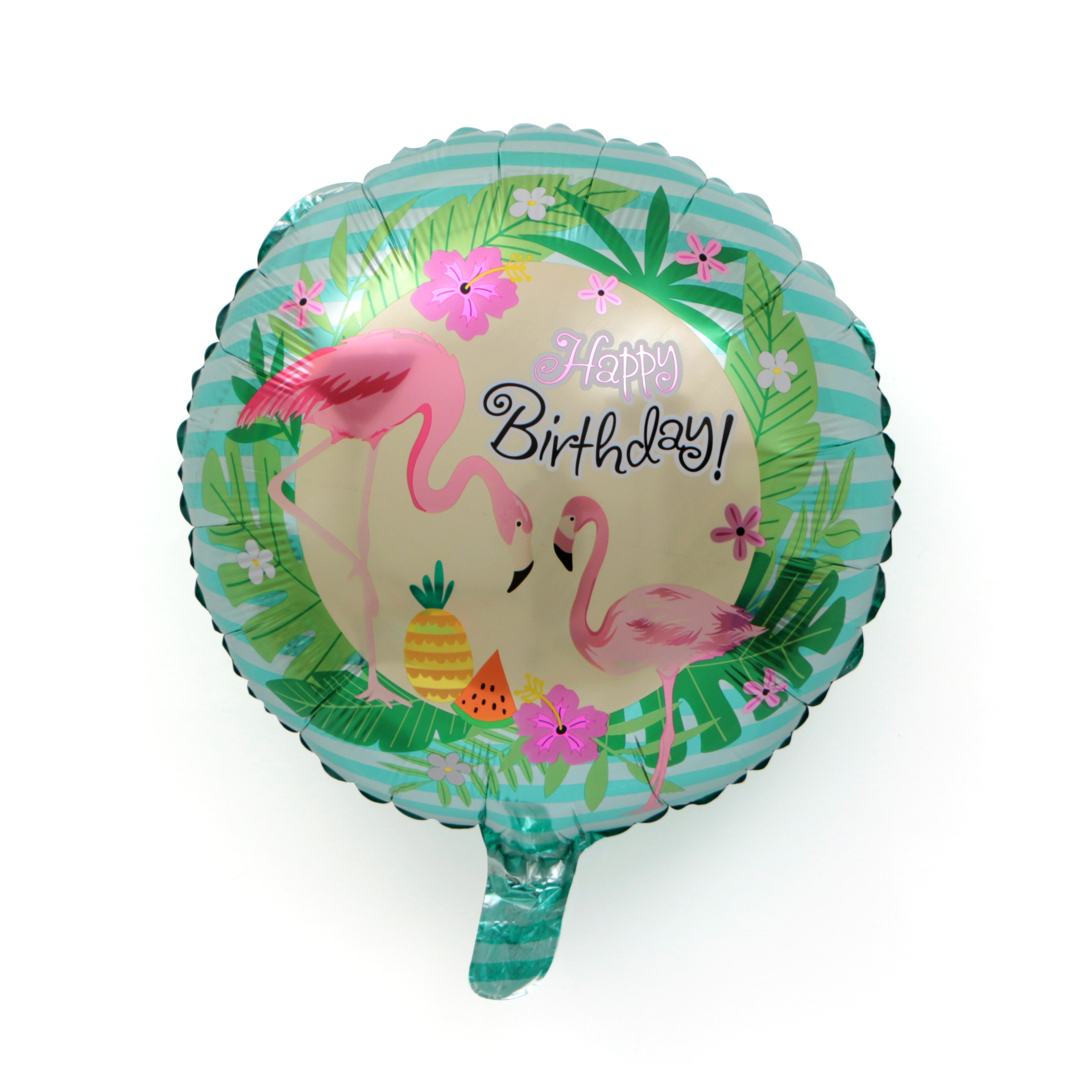 Kids Happy Birthday Balloons Toys 18 Inch Inflatable Birthday Party Ballons Animal Flamingo Bird Helium Foil Balloon Supplies