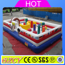 Customized kids giant inflatable castle, inflatable fun city playground for sale