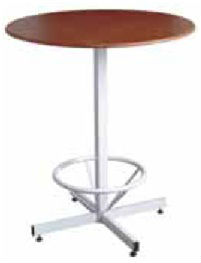 Round Bar Table - Wood Top