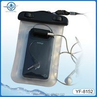 China Factory wholesale pvc waterproof mobile phone bag for All 4.3-4.5 inch screen phones for swimming diving rafting