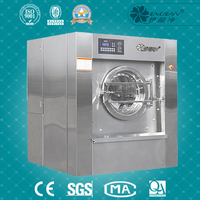 Large size 100kg industrial best front loader washing machine in guangzhou
