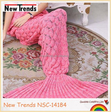 Fashion adult fish scale mermaid tails blanket 90*180 cm