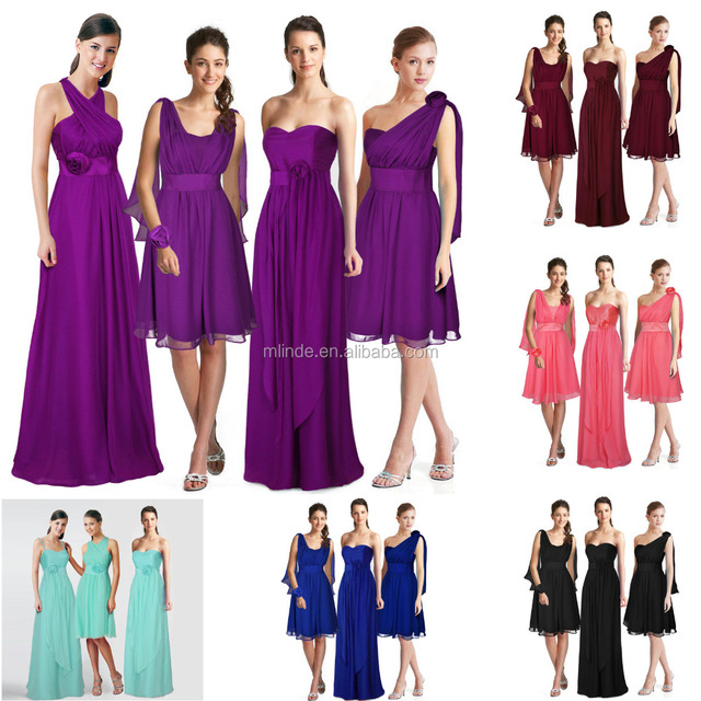 OEM Convertible Multi Wear Bridesmaid Formal Wedding Party Dress for Beautiful Women Wearing Dresses Wholesale