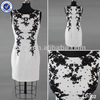 2014 new arrival white short back zipper beaded short scoop neck real pictures of cocktail dress