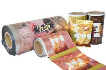 Laminated packaging film printing food bags