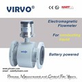 high accuracy battery powered water flowmeter / electromagnetic flow meter