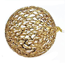 artificial Christmas wire ball golden ball decoration
