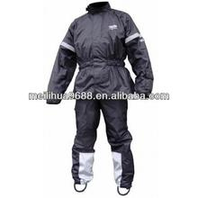 Black Double Layer Heat Protection Waterproof Motorcycle Jacket