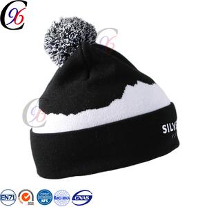 Chengxing hat jacquard plain acrylic crochet woven knitted printed pattern beanie  hat ed981cba21b1