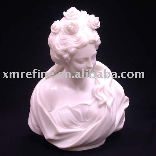 Female marble bust sculptures