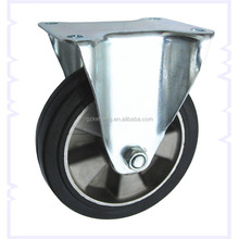 "6""/7""/8"" fixed rubber caster wheel,160mm Europe standard Aluminum casters,wheels and casters"