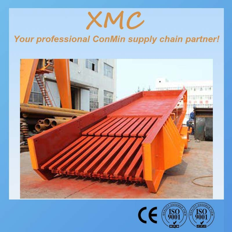Vibrating Feeder for feeding material to jaw crusher plant