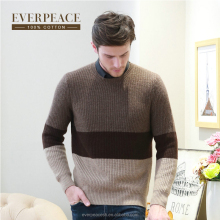Men's knitted colorful pullover sweater