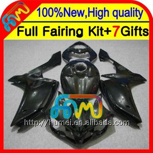 BodyFairing For YAMAHA ALL Black YZFR1 07 08 YZF 1000 CL102355 YZF-R1 07-08 YZF1000 2007 2008 Glossy black YZF R1 07 08 Kit