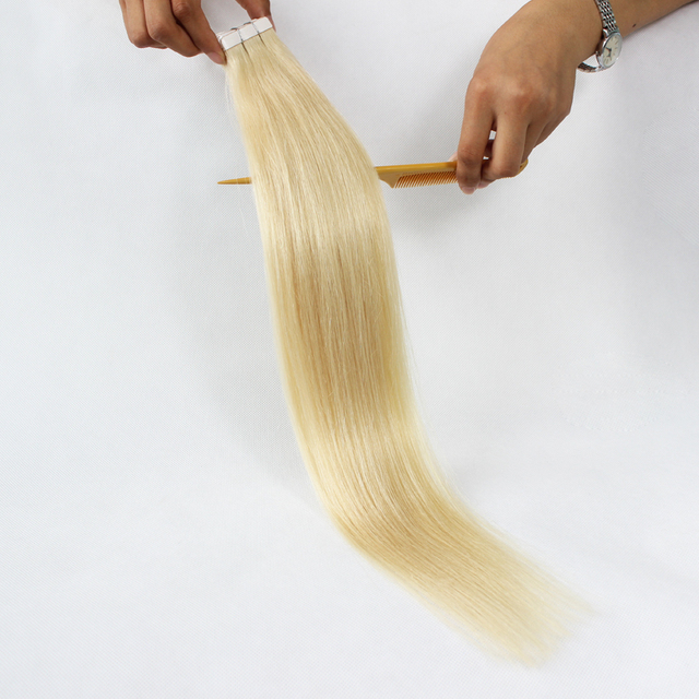 Remy softy super sticker 4*0.8cm wholesale human hair double tape skin weft remy human hair extension tape in hair