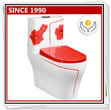 9223R Red flower beatiful closet design of toilet