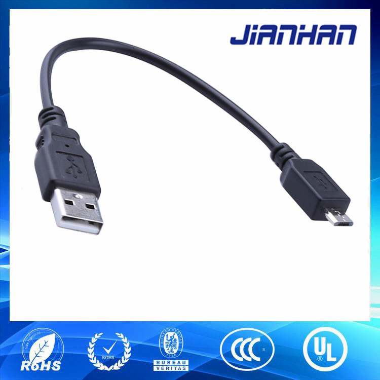 mobile phone accessories charging data good quality black micro usb male cable for Android Mobile Phones