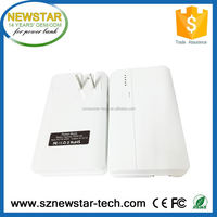 New arrival 5V 2.1A power bank high capacity with AC charger built-in