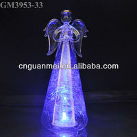 Simple Glass Angel Fairy Figurine Statue