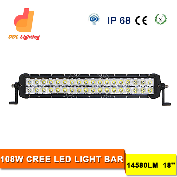 108W LED Light Bars,Truck Work Light for Off Road, Military, Agriculture, Marine, Mining
