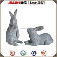 High quality resin garden decoration unpainted animal figurine