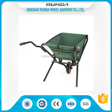 folding fabric tray wheelbarrow