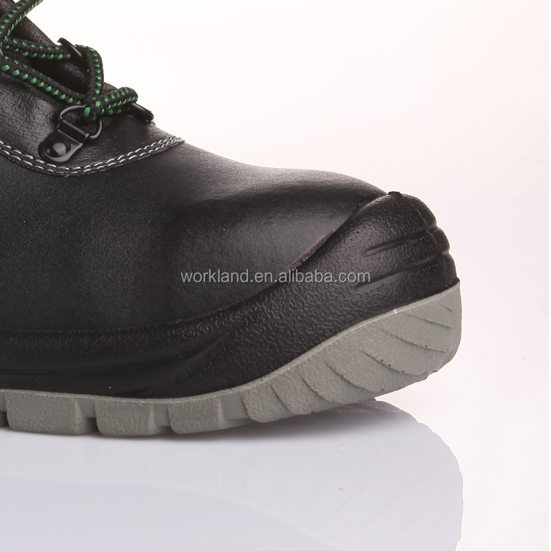 PU injected rubber outsole professional manufactory genuine leather steel toe caps safety shoes wholesales online FD3101