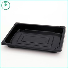 PS Plastic sushi tray Disposable plastic fast food packaging sushi tray with cover