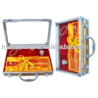 2016 luxury Aluminum Wine display box carrier