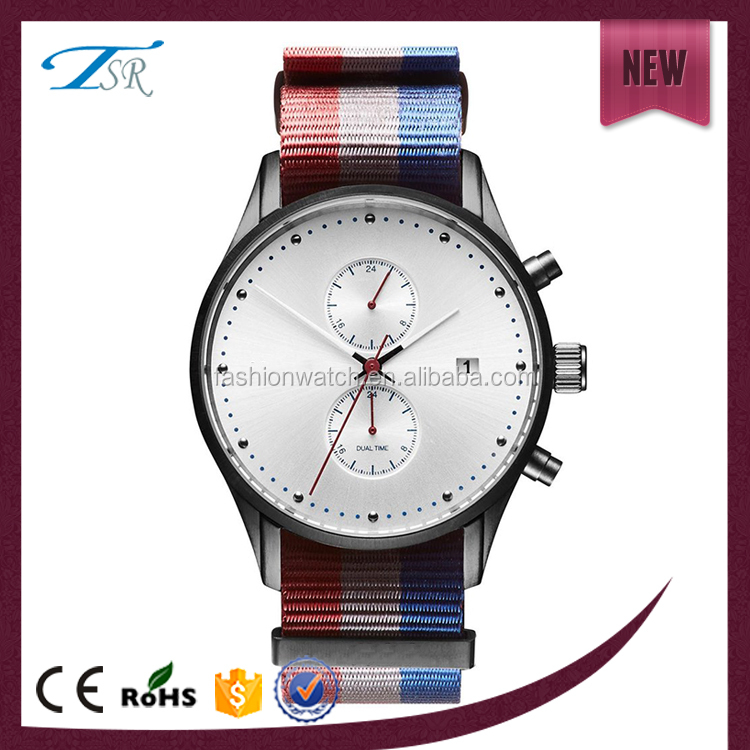 New promotional chronograph watch fashion gentle man watch made in China popular watch for man
