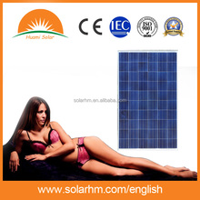 Guangzhou factory !260W Poly crystalline solar panel with CE TUV EL test for solar system