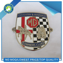 Metal hard enamel custom car badges emblems