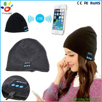 Fashion Soft Warm Hat Wireless Bluetooth Headphone Beanie Hat Smart Bluetooth Cap for Outdoors Sport