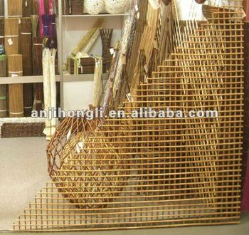 Natural Wood Border Fence Fencing Screen