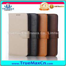 4Colors Replacement Crazy Horse Pattern Leather Cover Case For Samsung S6 edge+ Leather Case