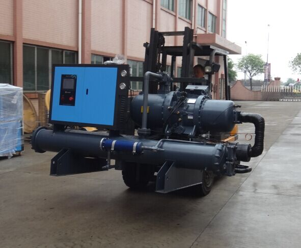 glycol water cooled screw industrial water chiller unit price