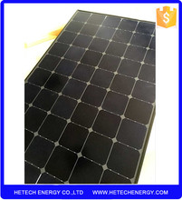 import from china factory direct high quality all black crow Sunpower 200w solar panel price