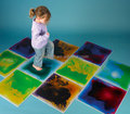 Royllent liquid dance floor tile for baby play