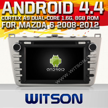 WITSON Android 4.4 FOR MAZDA 6 GPS NAVIGATION 2008-2012 1.6GHZ Frequency HD 3G Wifi Multi-touch 3D UI