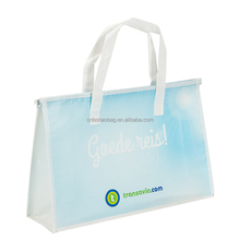 Easy carry pp non woven shopping zipper bag with lamination